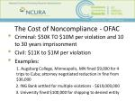 the cost of noncompliance ofac