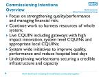 commissioning intentions overview