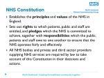 nhs constitution