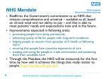 nhs mandate