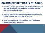 bolton district goals 2012 2013