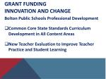 grant funding innovation and change2