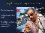 legal issue 1 express warranty