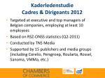 kaderledenstudie cadres dirigeants 2012
