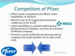 competitors of pfizer
