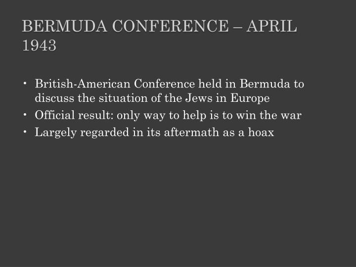 Bermuda Conference – April 1943