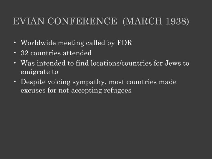 Evian Conference  (March 1938)
