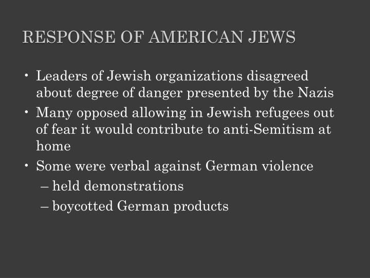 Response of American Jews