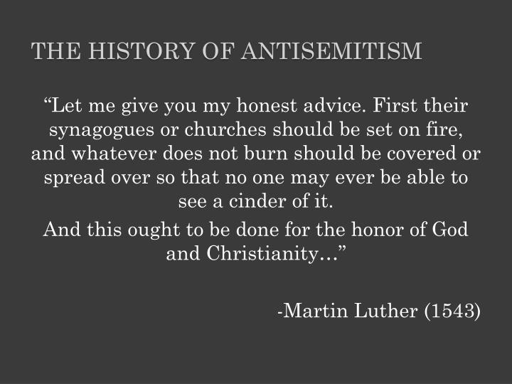 The history of antisemitism
