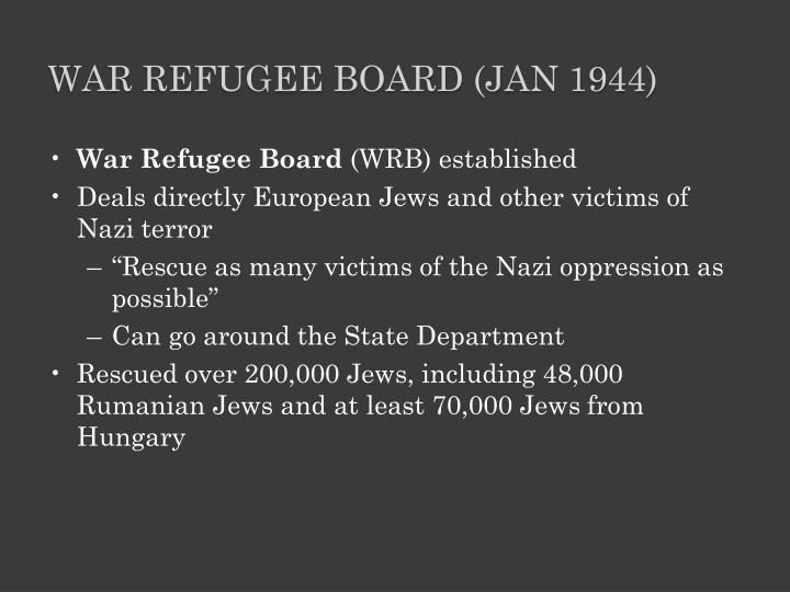 War Refugee Board (Jan 1944)