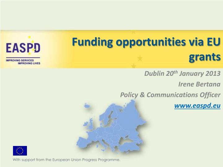 funding opportunities via eu grants n.