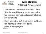 case studies politics procurement