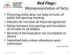 red flags misrepresentation of facts