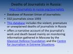 deaths of journalists in russia http journalists in russia org journalists