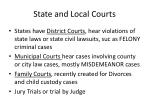 state and local courts