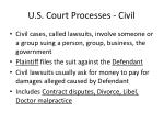 u s court processes civil