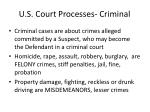 u s court processes criminal