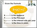 know the formula