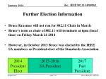 further election information