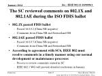 the sc reviewed comments on 802 1x and 802 1ae during the iso fdis ballot
