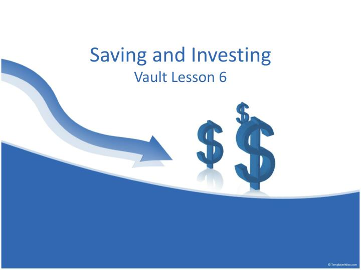 saving and investing n.
