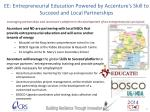 ee entrepreneurial education powered by accenture s skill to succeed and local partnerships