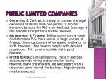 public limited companies1