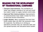 reasons for the development of transnational companies