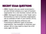 recent exam questions3