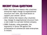 recent exam questions5