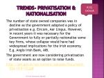 trends privatisation nationalisation