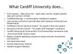 what cardiff university does