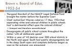 brown v board of educ 1952 54