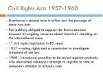 civil rights acts 1957 1960