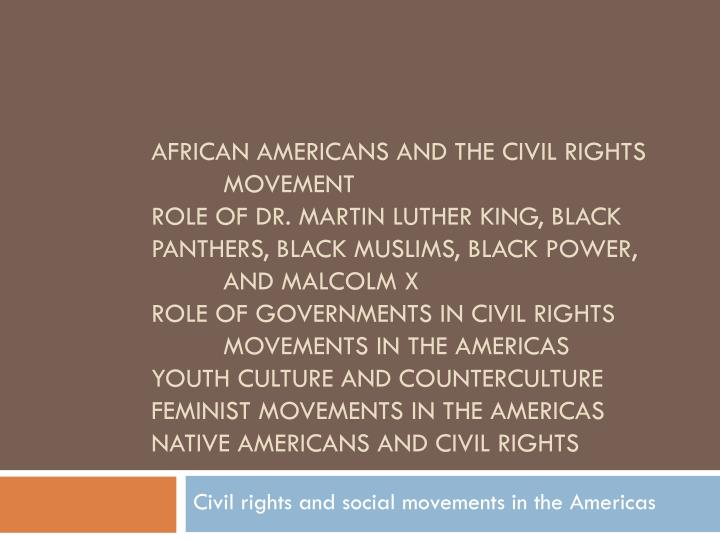 civil rights and social movements in the americas n.