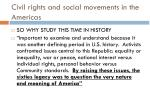 civil rights and social movements in the americas1