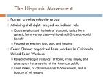 the hispanic movement