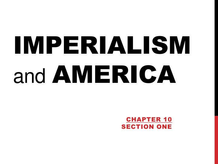 imperialism and america n.