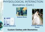 physiological interaction biometrics cont