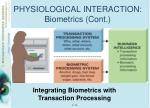 physiological interaction biometrics cont3