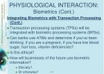 physiological interaction biometrics cont4