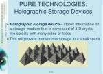 pure technologies holographic storage devices