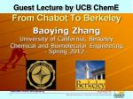 guest lecture by ucb cheme