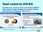 guest lecture by ucb m e
