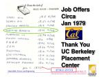 job offers circa jan 1979