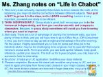 ms zhang notes on life in chabot