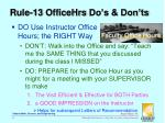 rule 13 officehrs do s don ts