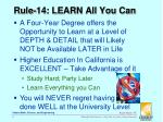 rule 14 learn all you can
