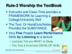 rule 3 worship the textbook