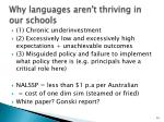 why languages aren t thriving in our schools